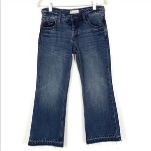 Free People Jacob raw released hem cropped jeans